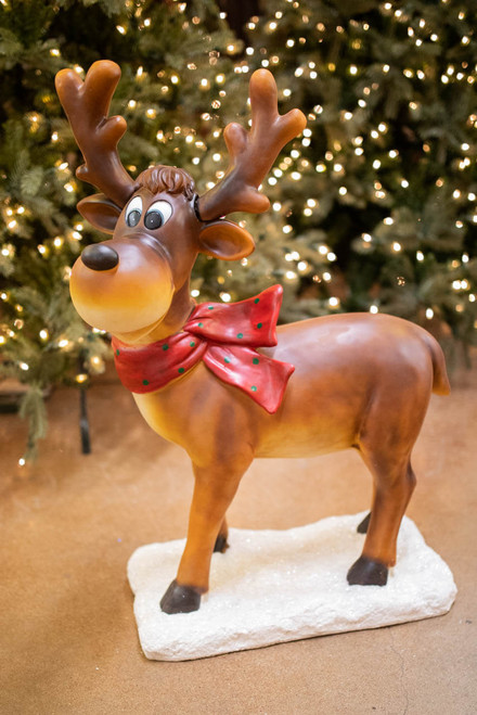 "38"" Resin Standing Whimsical Reindeer"