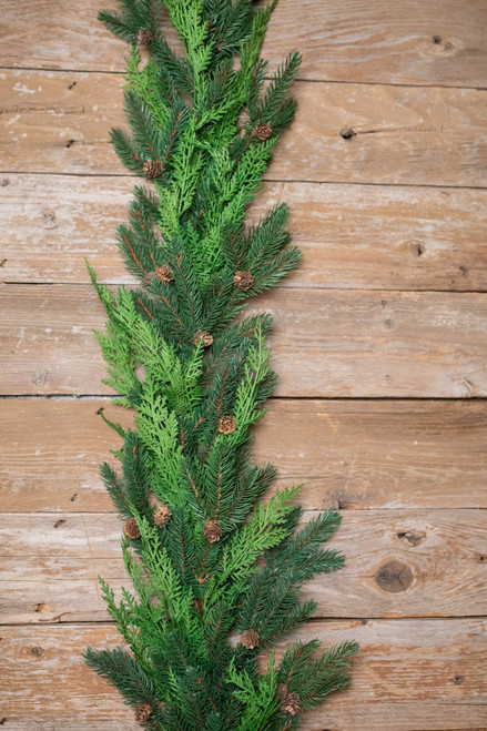 """48"""" Just Cut Natural Woodland Pines Garland"""