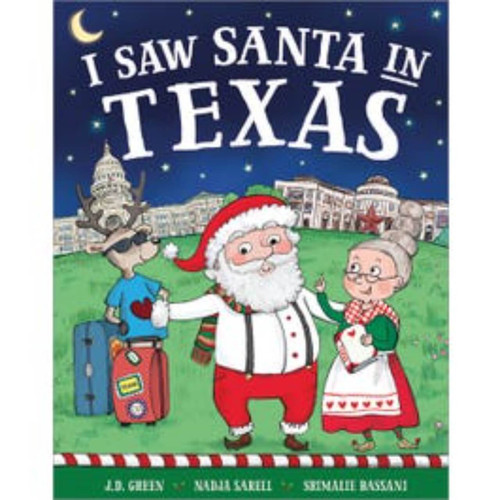 I Saw Santa In Texas Children's Book Giftables