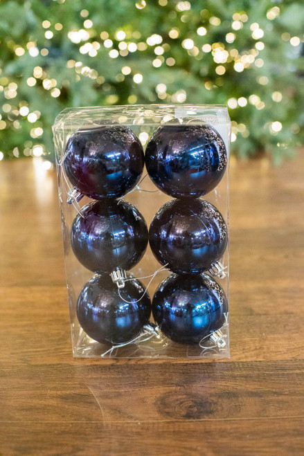 8 CM Midnight Blue Shiny Ball - Box of 6