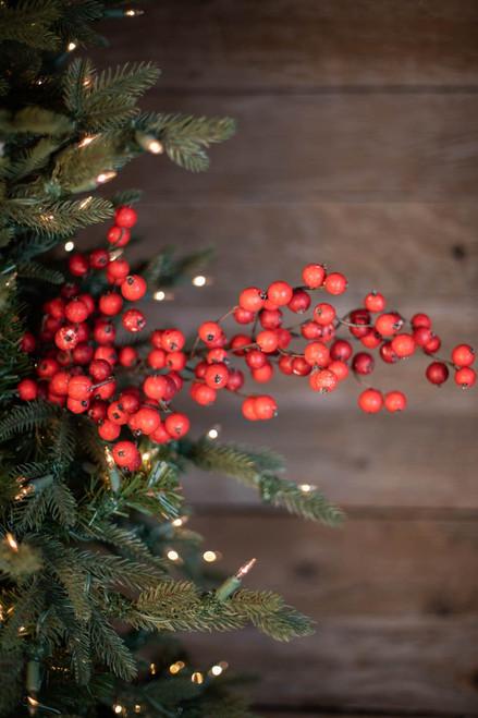 "29"" Crabapple Christmas Spray - Red Mix"