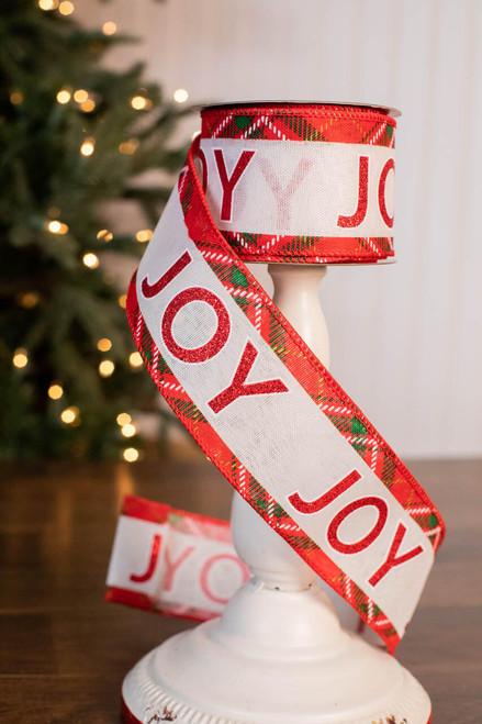 "2.5"" x 10 Yard Joy Plaid Ribbon"