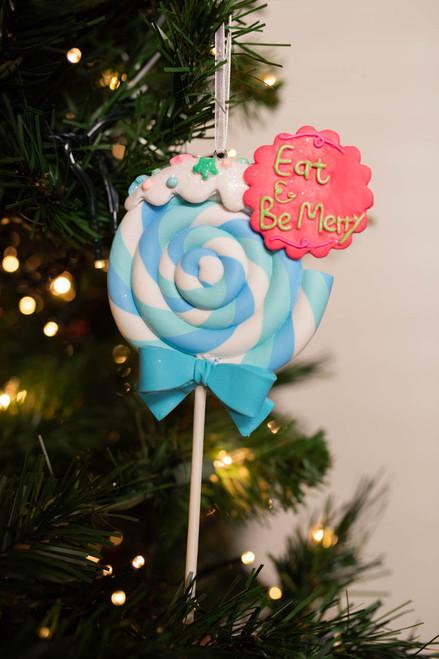 Clay Swirl Lollipop Ornament