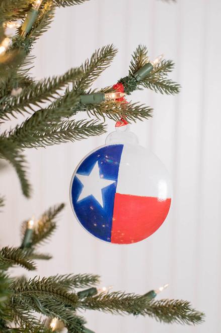 Personalizable Texas Flag Ornament
