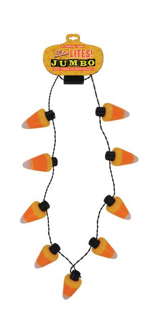Candy Corn Lotsa Lites Jumbo Necklace