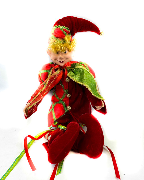 "20"" Red Jester Elf"