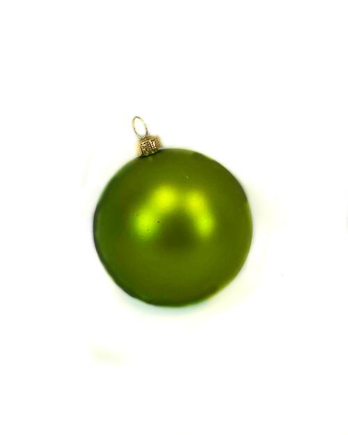 "3"" Metallic Green Ball Ornament"