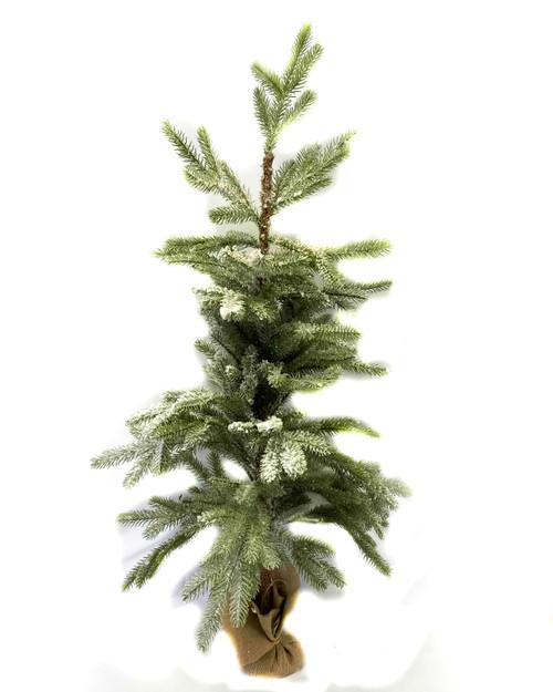 "42"" Flocked Pine Tree W/ Burlap Base"