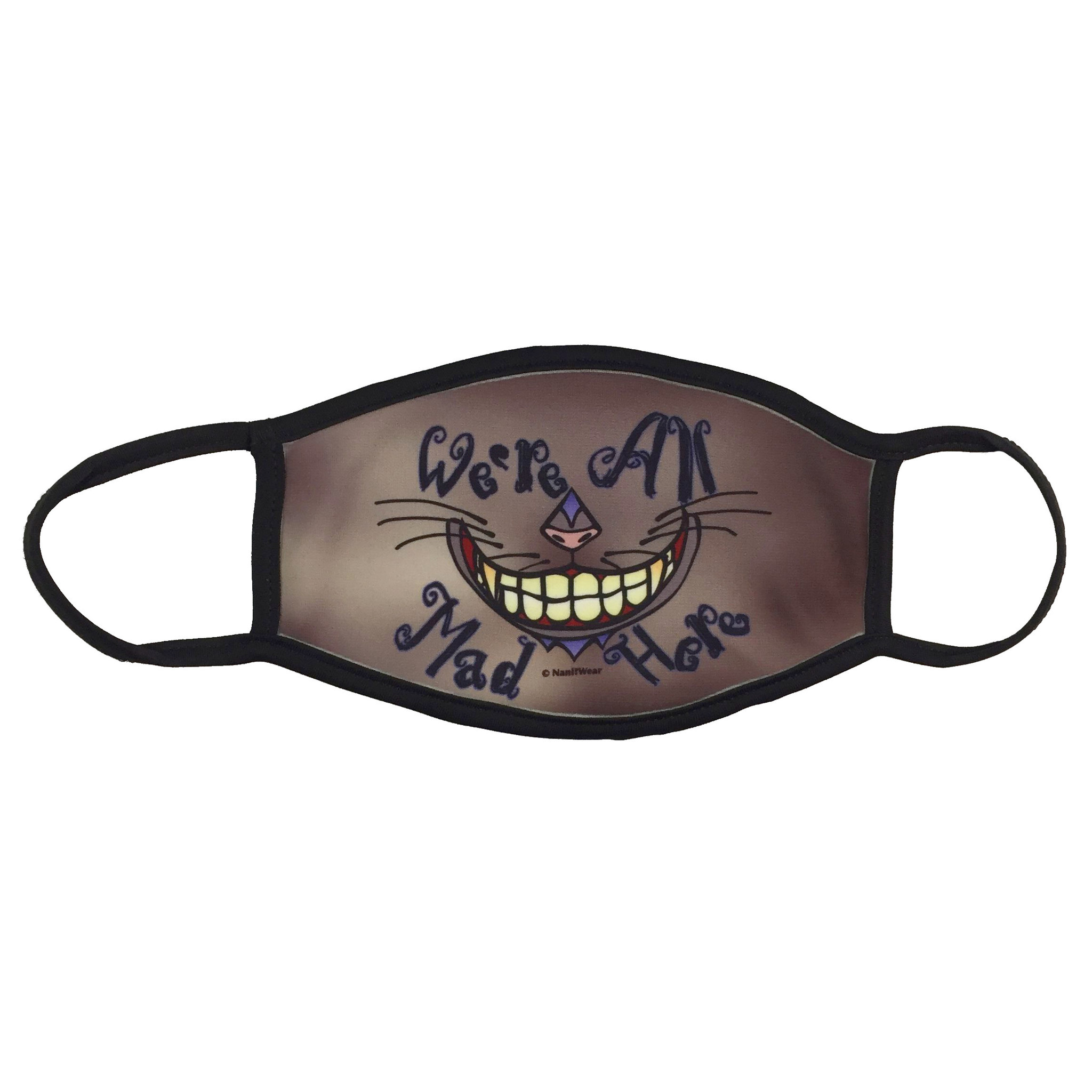 Alice In Wonderland Cheshire Cat Face Mask We Re All Mad Here