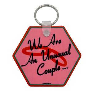 WandaVision Double-Sided Hexagonal Keychain We Are an Unusual Couple