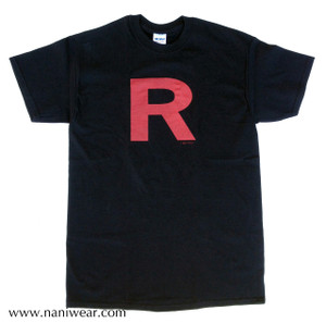 Pocket Monsters Inspired T-Shirt: Team R Black