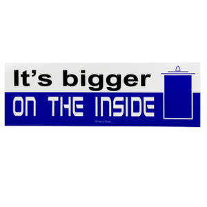Doctor Who Bumper Sticker: Bigger on the Inside