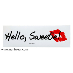 Doctor Who Inspired Bumper Sticker: Hello Sweetie