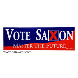 Doctor Who Bumper Sticker Vote Saxon Master the Future