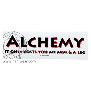 Fullmetal Alchemist Bumper Sticker Alchemy Only Costs Arm & Leg