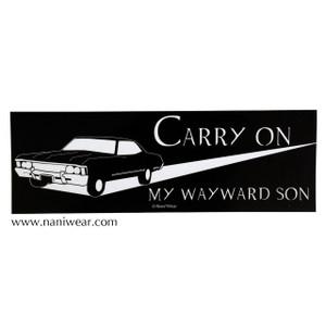 Supernatural Inspired Bumper Sticker: Carry On My Wayward Son