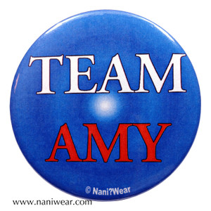 Amy Pond Doctor Who Inspired Button: Team Amy