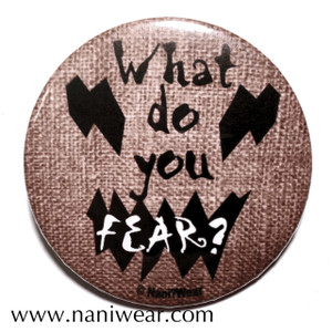 Batman Inspired Button: Scarecrow What do You Fear?