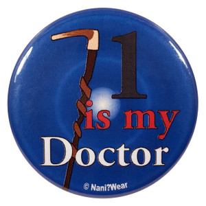 Doctor Who Button: 1 is My Doctor