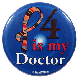 Doctor Who Button: 4 is My Doctor