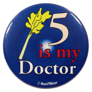 Doctor Who Button: 5 is My Doctor