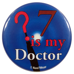 Doctor Who Button: 7 is My Doctor