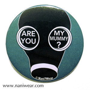 Doctor Who Inspired Button: Are You My Mummy?