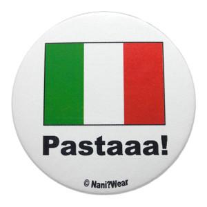 Hetalia Inspired Button: Italy, Pastaaaa!