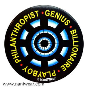 Iron Man Avengers Inspired Button: Genius Billionaire Playboy