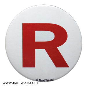 Pocket Monsters Inspired Button: Team Rocket White