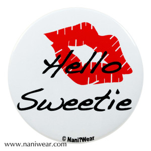 River Song Inspired Button: Hello Sweetie