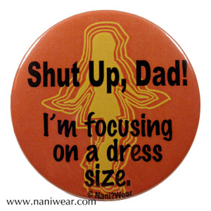 River Song Inspired Button: I'm focusing on a dress size