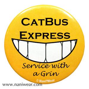 Totoro Inspired Button: Catbus Express