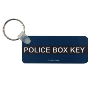 Doctor Who Keychain TARDIS Police Box Key