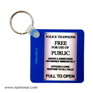 Doctor Who Inspired Square Keychain: Pull to Open