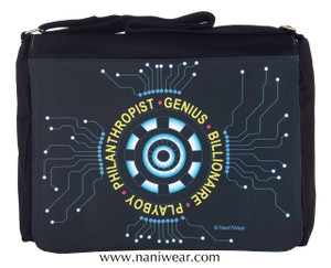 Iron Man Inspired Large Messenger/Laptop Bag: Genius Billionaire
