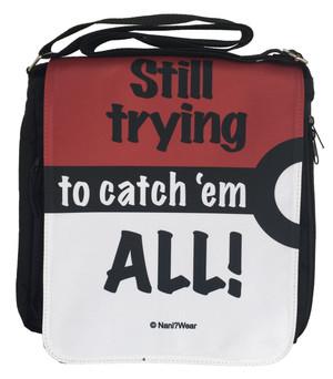 Pocket Monster Inspired Medium Messenger Bag: Still Trying to Catch 'Em All