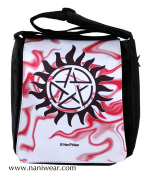 Supernatural Inspired Medium Messenger Bag: Anti-Possession Seal
