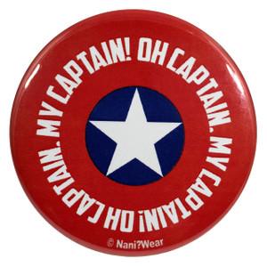 Captain America 2.25 Inch Geek Button Oh Captain My Captain