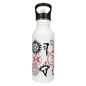 Supernatural Symbols 20oz Stainless Steel Water Bottle
