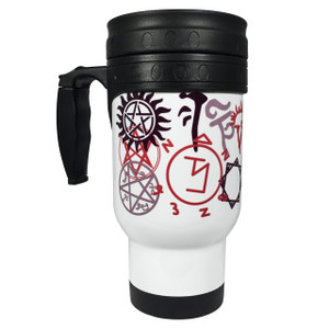 Supernatural Symbols 14oz Stainless Steel Travel Mug