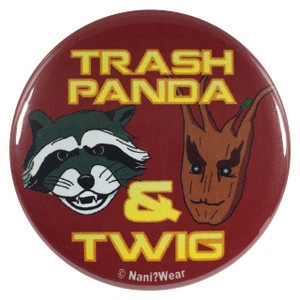 Rocket Raccoon and Groot 2.25 Inch Button Trash Panda and Twig