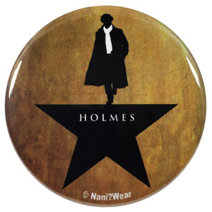 Sherlock Hamilton Mash-Up 2.25 Inch Geek Button