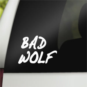 Doctor Who Geek Vinyl Car Decal Bad Wolf