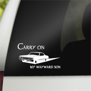 Supernatural Geek Vinyl Car Decal Carry on My Wayward Son