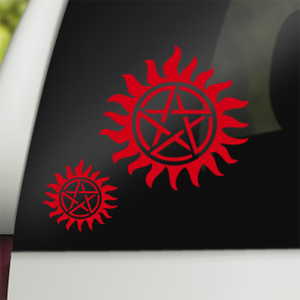 Supernatural Geek Vinyl Car Decal Anti-Possession