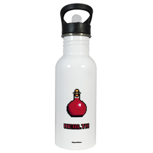 Role Playing Fantasy Gamer 8 Bit Health Potion 20oz Water Bottle