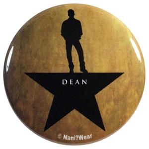 Supernatural Dean Winchester Hamilton 2.25 Inch Geek Button