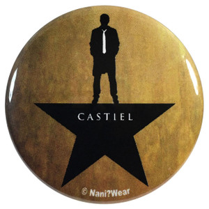 Supernatural Castiel Hamilton 2.25 Inch Geek Button