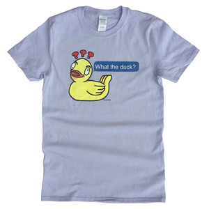 Autocorrect Rubber Ducky Meme Geek T-Shirt What the Duck